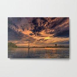 Sunset over Cambridge, MA Metal Print