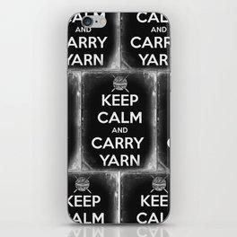 Keep Calm and Carry Yarn - Tin Panel - Knitting iPhone Skin