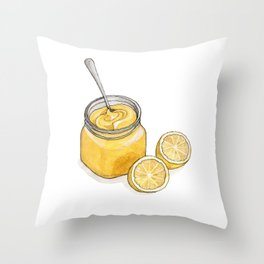 Desserts: Lemon Curd Throw Pillow