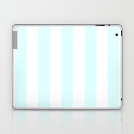 Light cyan heavenly - solid color - white vertical lines pattern Laptop & iPad Skin
