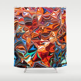 Abstract: Energy Flowers Shower Curtain