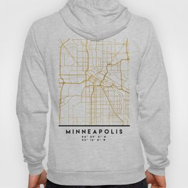 MINNEAPOLIS MINNESOTA CITY STREET MAP ART Hoody