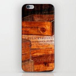 Wine crates iPhone Skin