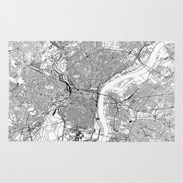 Philadelphia White Map Rug
