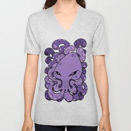 Octopus Squid Kraken Cthulhu Sea Creature - Ultra Violet Unisex V-Neck