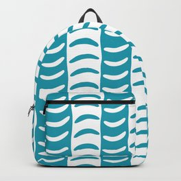 Wavy Stripes Turquoise Backpack