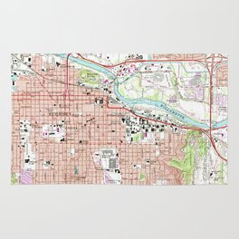 Vintage Map of Eugene Oregon (1967) Rug