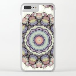 Abstract flowers mandala Clear iPhone Case