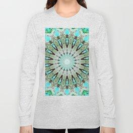 Tropical Floral Mandala Long Sleeve T-shirt