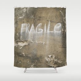 Fragile city Shower Curtain