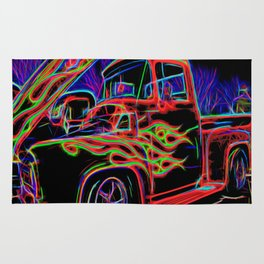 Neon Ford F-100 Pick-up Truck Rug