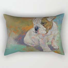 Bulldog Puppy Rectangular Pillow
