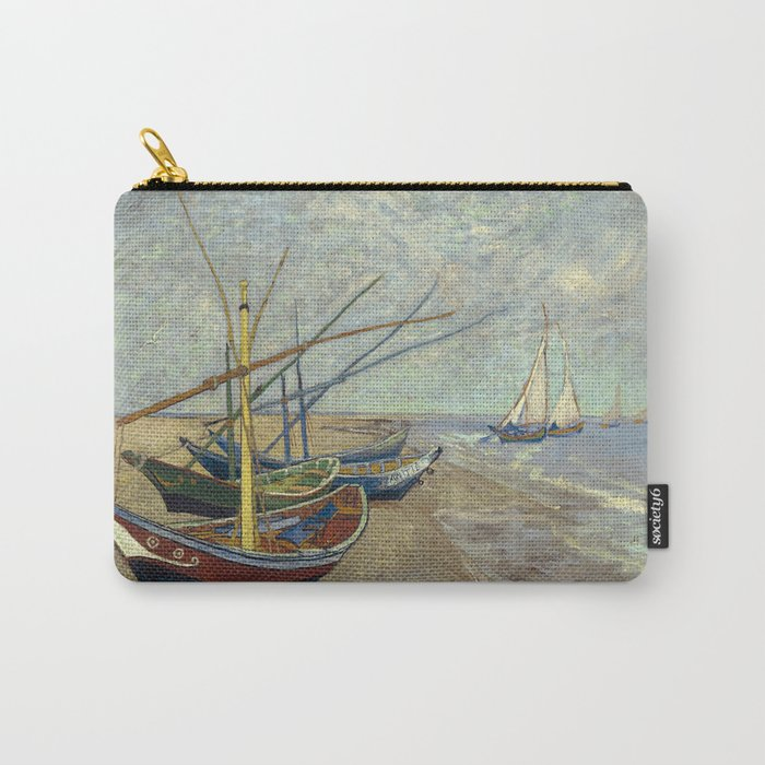 Fishing boats on the beach at Les Saintes-Maries-de-la-Mer Carry-All Pouch