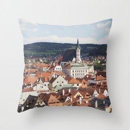 Český Krumlov Throw Pillow