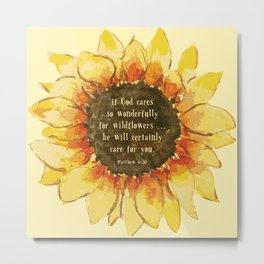 Consider the Sunfower Metal Print