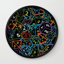 D&D (Dungeons and Dragons) - This is how I roll! Wall Clock