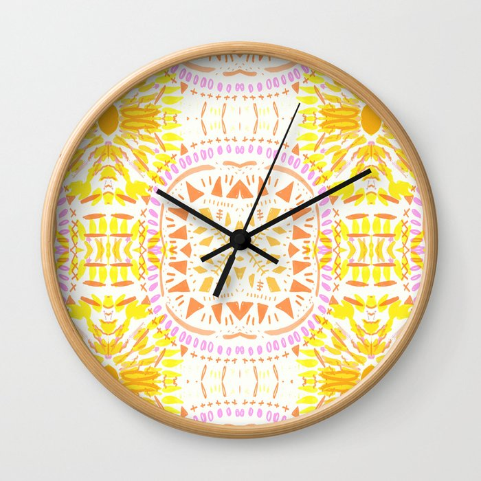 fire mandala 2 Wall Clock