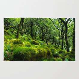 MOSSY ROCK ENGLISH FOREST Rug