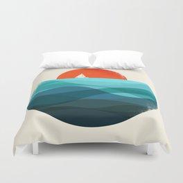 Deep blue ocean Duvet Cover