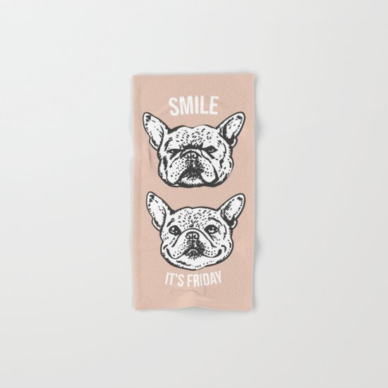 Smile It's Friday Frenchie Hand & Bath Towel