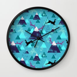 blu mountains Wall Clock