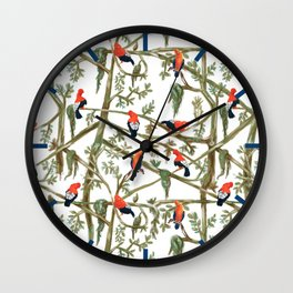 Gallitos de las rocas // Peruvian national bird gathering Wall Clock