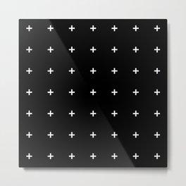 PLUS ((white on black)) Metal Print