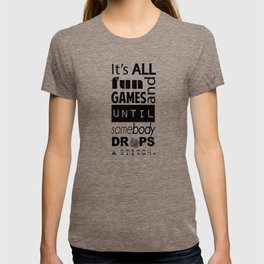"Drop Stitch ""Black on White"" T-shirt"