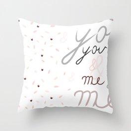 u&m Throw Pillow