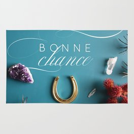Bonne Chance - Good Luck! in French Rug