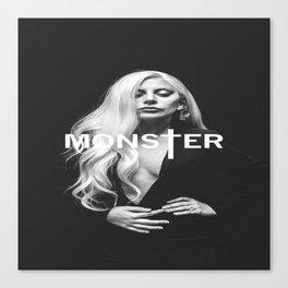 Lady Gaga's Portrait Monster Canvas Print
