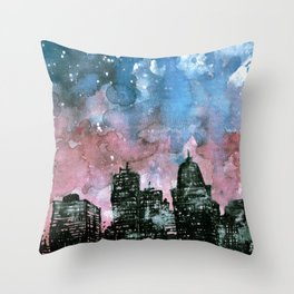 buildings architecture galaxy Throw Pillow