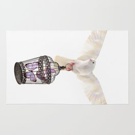 Even doves have pride Rug