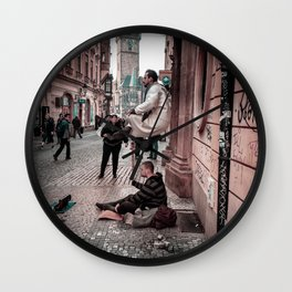 Floating Man Wall Clock