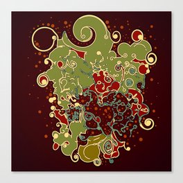 Abstract swirls digital poster/. Canvas Print