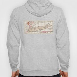 Long and Staten Island Map Hoody