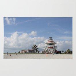 South Beach Miami Lifeguard Station Rug