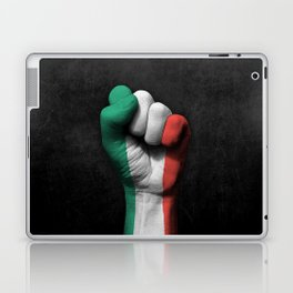 Italian Flag on a Raised Clenched Fist Laptop & iPad Skin