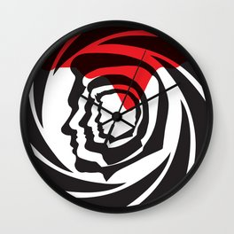 Bond Heads Silhouette Wall Clock
