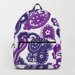 Fun Purple Paisley Backpack