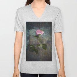 Single Wilted Rose Unisex V-Neck
