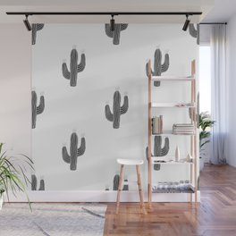 Cactus bloom - bw Wall Mural