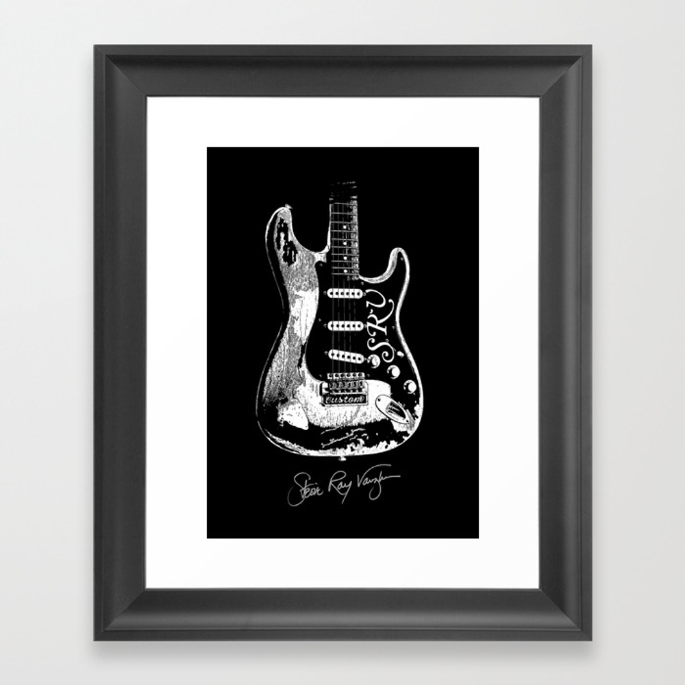 Stevie Ray Vaughan - Guitar-blues-rock-legend Framed Art Print by Amadeumarques FRM8720501