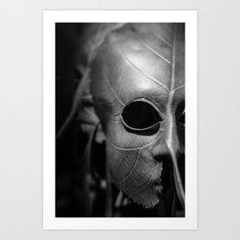 Leaf Mask Art Print
