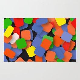 wild color pieces Rug