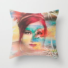 Color girl Throw Pillow