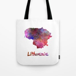 Lithuania in watercolor Tote Bag