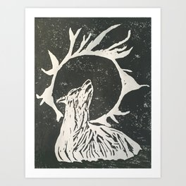 shadow wolf Art Print