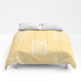 Petite Pineapple yellow Comforters