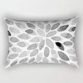 Watercolor brush strokes - black and white Rectangular Pillow